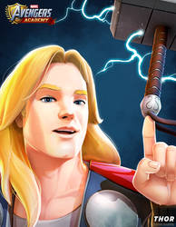 Avengers Academy--Thor Portrait by DNA-1