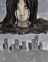 Original: Rainy day, Sad day by michakuu