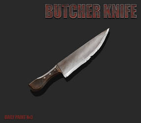 Daily paint 3. Butcher knife by L1nkoln