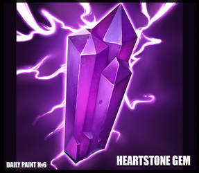 Daily paint 6. Heartstone gem by L1nkoln