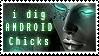 I dig android chicks - stamp by ValentinaKallias