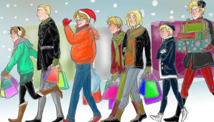 Christmas shopping by YayusDerApfel