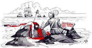 A Walking Paradox by Latuff2