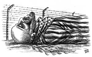 Gaza to face a holocaust by Latuff2