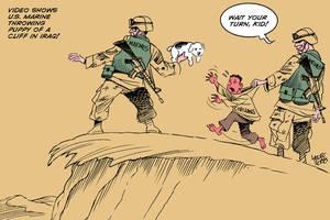 The bravery of U.S. Marines by Latuff2