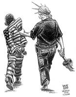 Black prison population in US by Latuff2