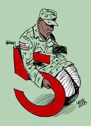 Iraq War 5 years C by Latuff2