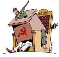 Ending near for Nepal monarchy by Latuff2