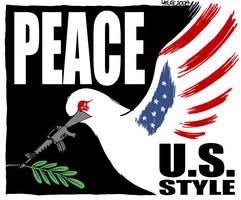 Peace, U.S. style by Latuff2