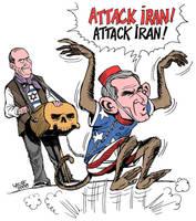 Israel pressures US on Iran by Latuff2