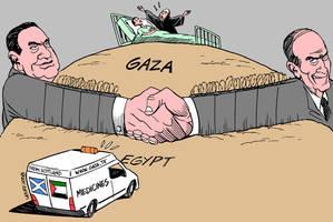 Scottish medicines to Gaza by Latuff2