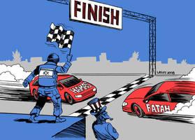Hamas versus Fatah 2 by Latuff2