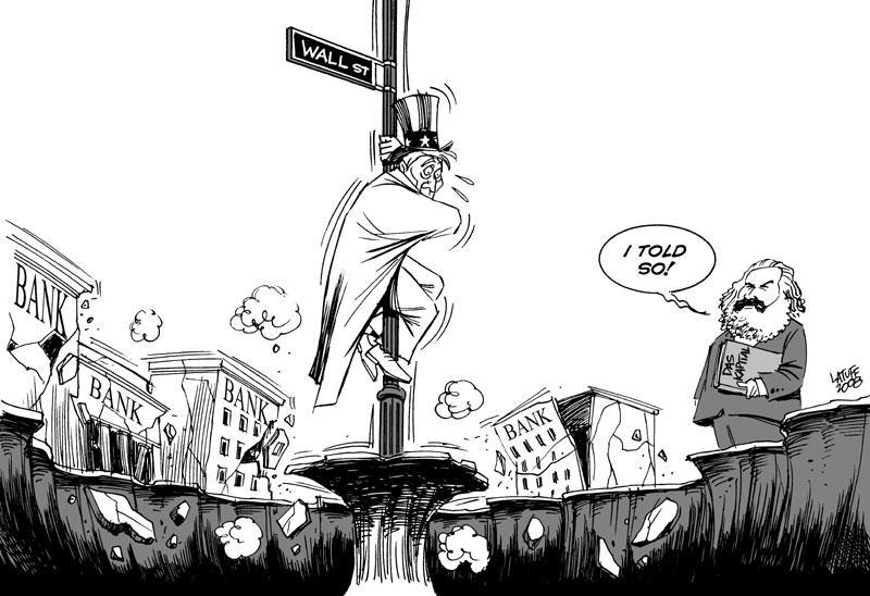 U.S bank crisis by Latuff2