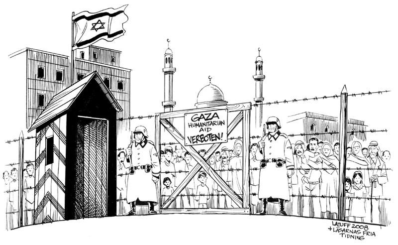 The Gaza Ghetto by Latuff2