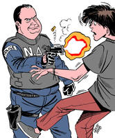 Boy shot dead by Greek cops by Latuff2