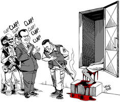 Kid shot dead by Rio's police by Latuff2