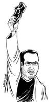 The Hero of the Iraqi People by Latuff2
