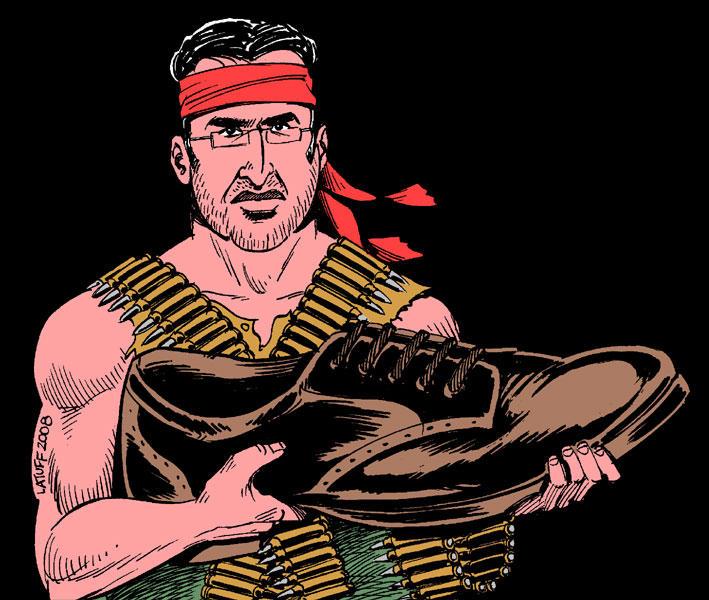 Muntazer al-Zaidi by Latuff2