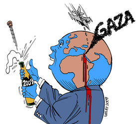 No Happy New Year for Gaza by Latuff2