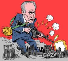 ShimonPeres NobelPeaceLaureate by Latuff2