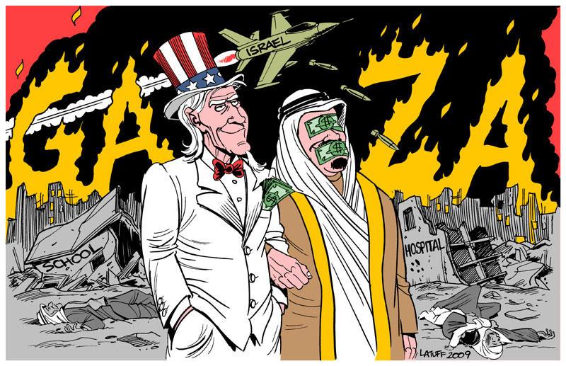 Gaza, USA and the Arab regimes by Latuff2