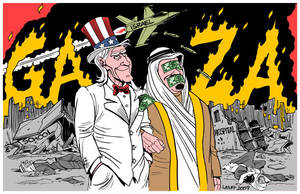 Gaza, USA and the Arab regimes by Latuff2