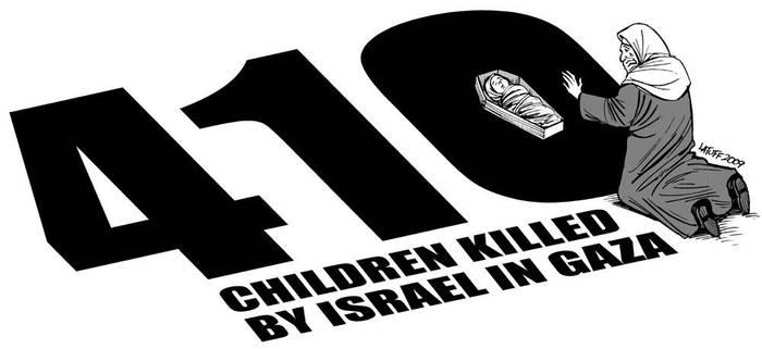 410 children killed by Israel by Latuff2