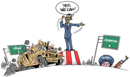 Obama's surge in Afghanistan by Latuff2