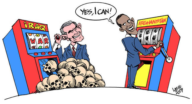 Obama goes to war by Latuff2
