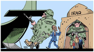 Obama's Iraq 'withdrawal' by Latuff2
