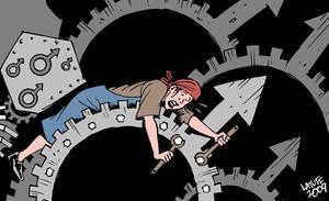 Capital exploitation of women by Latuff2