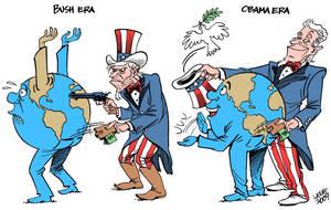 Bush, Obama differences by Latuff2
