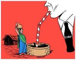 Coca Cola Crisis in India by Latuff2
