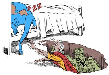 Tamil Massacre in Sri Lanka by Latuff2