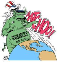 Swine Flu's Hidden Agenda B by Latuff2