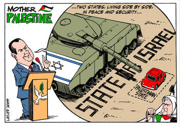 Mother Palestine Two States by Latuff2