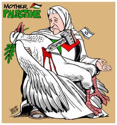 Mother Palestine Pieta by Latuff2
