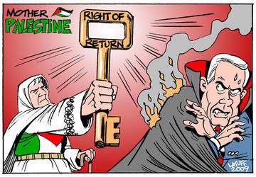 Mother Palestine, Netanyacula by Latuff2