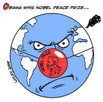 Obama wins Nobel PEACE Prize by Latuff2