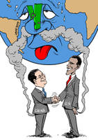US China no emissions cut by Latuff2