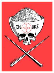Genetic modified rice DANGER by Latuff2
