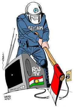 Closure of Kurdish TV by Latuff2