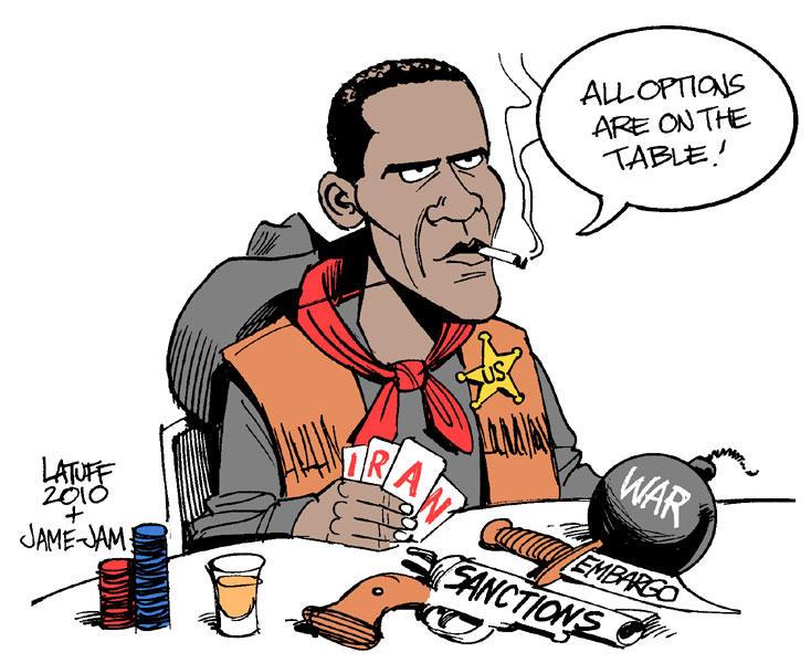 Obama and Iran by Latuff2