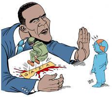 Israel refuses lift blockade by Latuff2