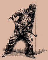 Palestinian guerrilla by Latuff2