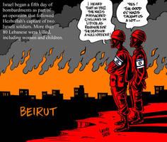 Lidice 1942 Beirut 2006 by Latuff2