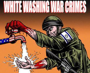 White washing war crimes by Latuff2