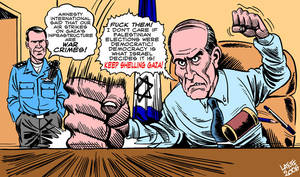 Ehud Olmert office by Latuff2