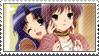 Ryoko and Yuki stamp by Kyoukka