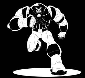 Inktober 2018 Day 31: The Juggernaut by Atomic-Chinchilla